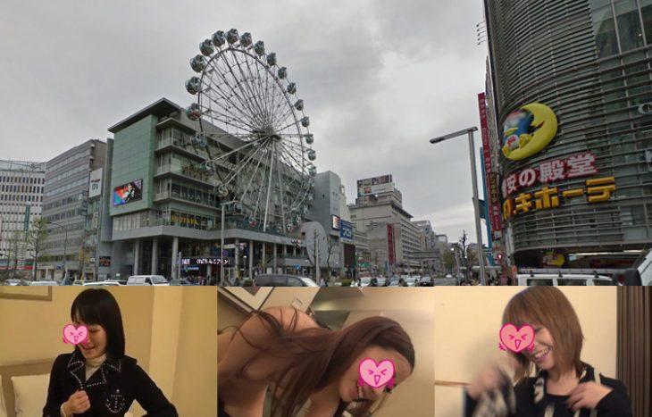 ナンパ&出会い系でエッチした名古屋のビッチ3人がこちら【名駅~栄】